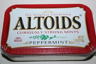 US ALTOIDS Curiously Strong Mints PEPPERMINT 50g tin