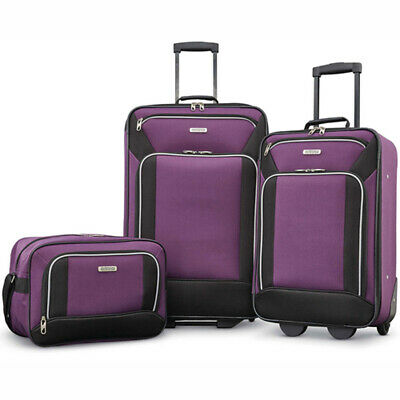 American Tourister Fieldbrook XLT 3 Piece Set - Purple - (92286-2648)