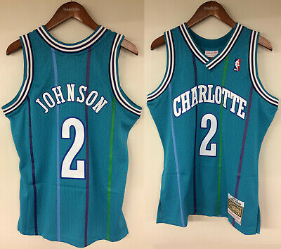 22e6f64d6 Larry Johnson Charlotte Hornets Mitchell   Ness NBA Authentic 1992-1993  Jersey