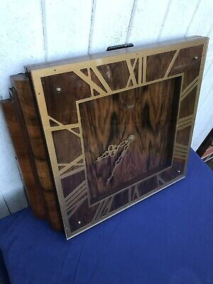Stunning Art Deco Walnut Smiths Sectric Electric Wall Clock