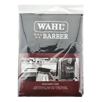 Wahl Pinstripe Hairdressing Cape Barber Hairdresser Hair Water Resistant
