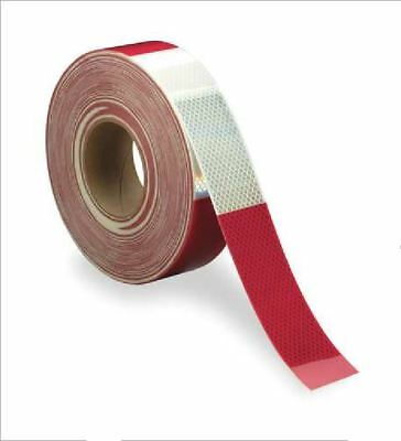 "3M 983-326 Diamond Grade Red / White Reflective  2"" Tape - 150 ft Length DOT-C2"