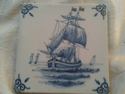 17th Century Blue Delft Tile in Amazingly Good Condition