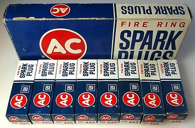 Vintage NOS Qty 8 AC 44S Spark Plugs + boxes Buick Olds Pontiac GTO 389 400 421
