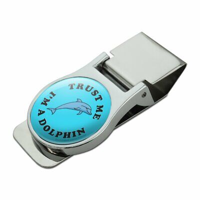Juvenile Delinquent Funny Humor Satin Chrome Plated Metal Money Clip