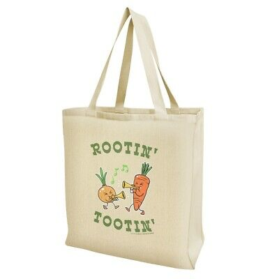 Rootin' Tootin' Root Vegetables Funny Humor Grocery Travel Reusable Tote Bag