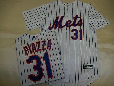 511f87c26 9208 MAJESTIC New York Mets MIKE PIAZZA Baseball Cool Base JERSEY New WHT  P S