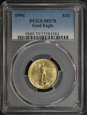 1994 $10 American Gold Eagle 1/4 oz PCGS MS-70 Low Pop! -172525