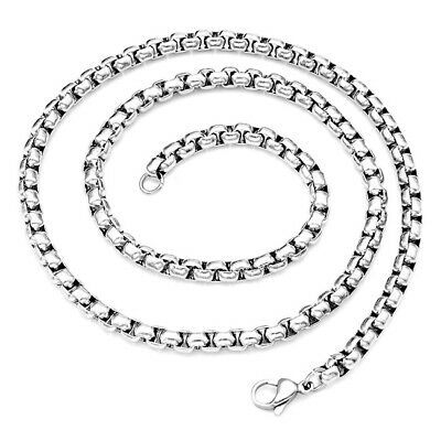 "Pick 2-7mm 316L Stainless Steel Box Chain Links Necklace 20""-24"" Mens Womens-AD"