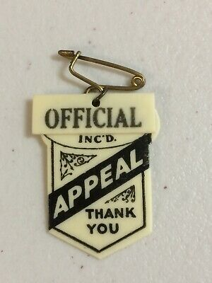 Hindmarsh Town Mission Appeal Day OFFICIAL Celluloid Badge