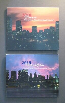 2010 United States Mint Uncirculated Coin Set - P&D 28 Coins - *Free Shipping*