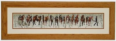 TWO INDIAN HORSES Art Print by Bev Doolittle Solid Wood Frame Professional Mat
