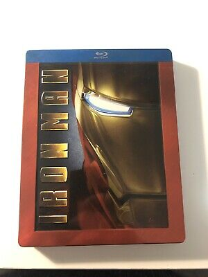 Iron Man Blu-ray Steelbook Future Shop Exclusive Marvel GRAIL 2008 Damaged Read