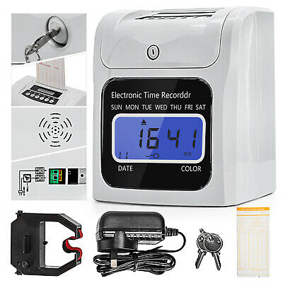 Electronic Employee Time Attendance Time Clock Recorder Bundy+ 50 Pics Timecards