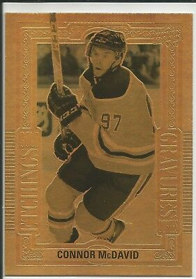 18-19 UD Tim Hortons Gold Etchings GE-10 Connor McDavid Edmonton Oilers