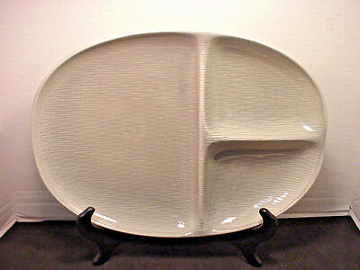 Raymor Contempora by Steubenville Mist Gray Divided Platter, Large, MCM