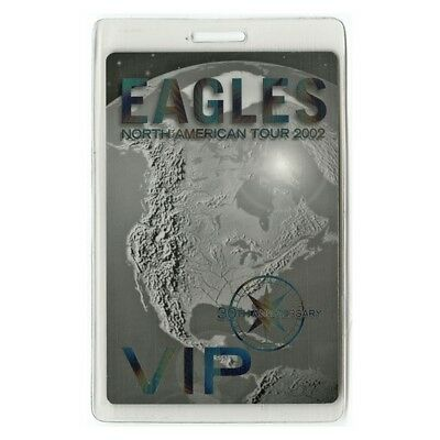 Eagles authentic 2002 concert Laminated Backstage Pass 30th Anniversary Tour VIP