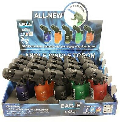 Torch Lighter -Eagle 45 Degree Angle Jet Flame Torch Lighter Refillable  5 Pack
