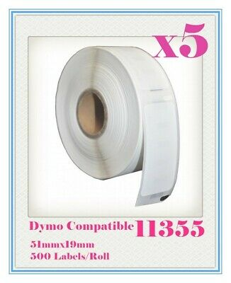 5 Compatible for Dymo / Seiko 11355 Label 51mm x 19mm Labelwriter450/450Turbo