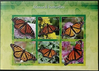 132.eritrea 2017 Imperf Stamp S/s Monarch Butterfly. Mnh
