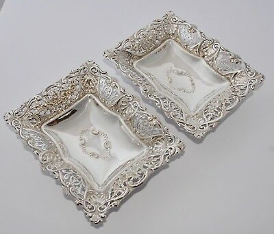 Pair of Vintage HAMILTON & LAIDLAW Silver Plate Dishes - Shell/Roses - Glasgow