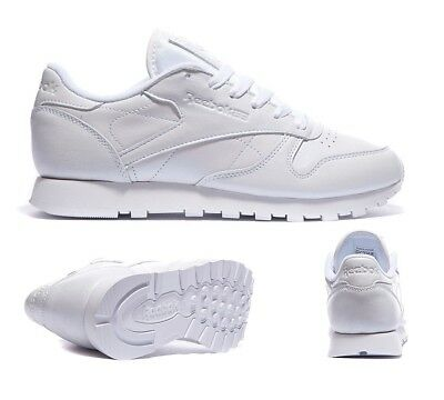 new arrival e1865 980ba Womens Reebok Classic Leather Pearl White Trainers (PF27) RRP £44.99