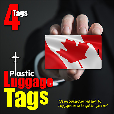 4pcs CANADA Flag Luggage Tags