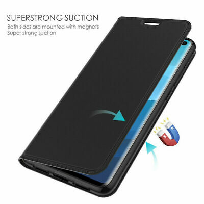 For Samsung Galaxy S10 S9 S8 Plus Flip Leather Magnetic Wallet Stand Case Cover