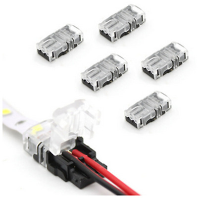 5/10x 2/4Pin LED Connector Connect Cable PCB for 8/10mm RGB Waterproof LED Strip