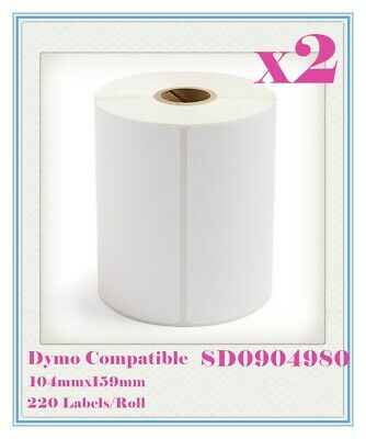 2 Compatible for Dymo 4XL SD0904980 Large Label 104 x 159mm