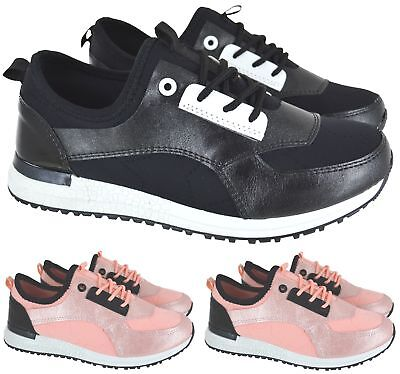 LADIES WOMENS FLAT SPORT RUNNING BALI GYM LACE UP GYM FITNESS TRAINERS SHOES SZ