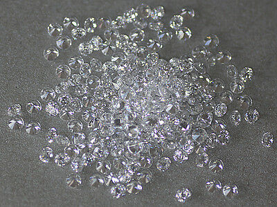 White Clear Round Brilliant Loose Cubic Zirconia Crystal Beads CZ