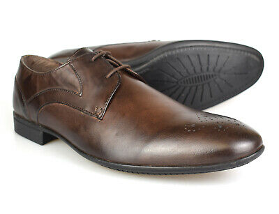 DF788 Scimitar Mens Capped Gibson Smart //Formal //Work Leather Lace up Shoes