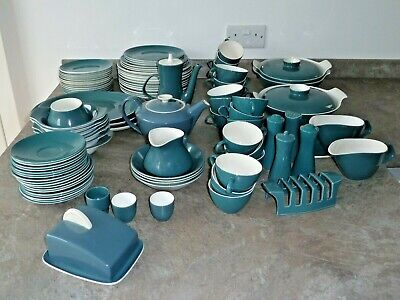 Over 100 Pieces Vintage Poole Pottery - Blue Moon