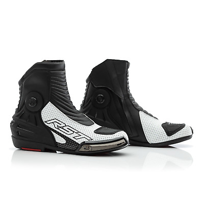 RST Tractech Evo III 3 Short Motorcycle Motorbike Boots - CE APPROVED - White