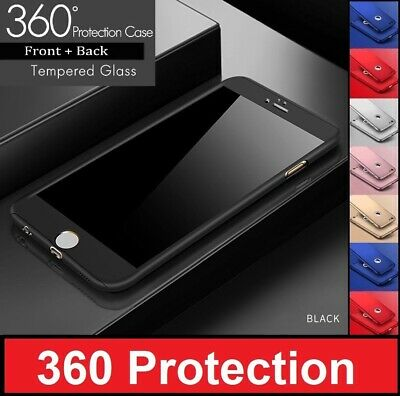 For iPhone 8 Tough Hybrid Case Hard Front Back Shockproof Heavy Duty 360 Cover
