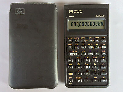 Financial Calculator HEWLETT PACKARD HP 10B Business - year 1987  - TESTED