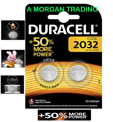 x2 Double Duracell CR2032 3V Lithium Button Battery Coin Cell DL/CR 2032 *2028*