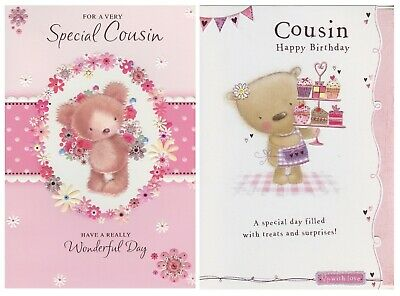 Female Cousin Birthday Cards 1St Pp Various Designs