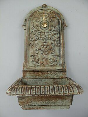 G1064: Heavy Wall Fountain Cast Iron, Green/Brown, Weatherproof 60 Cm