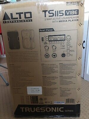 Pair Of Alto Ts115 Vibe 2 Way Active Loud Speakers With Media Player Live Music