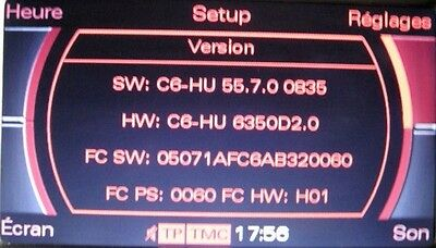 Audi MMI 2g HIGH Software Update 5570 A4/A5/A6/A8/Q7