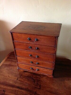 Antique Edwardian Table Cabinet / Minature Chest of Drawers