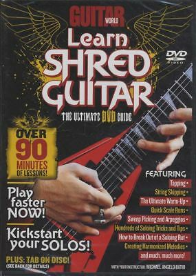 Learn Shred Guitar World Michael Angelo Batio Tuition DVD How To Play