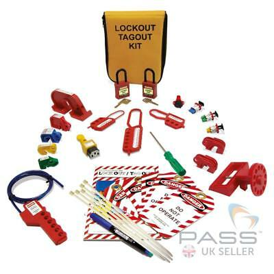 Lockout Tagout Electrician Kit with MCB Lockout Pouch (26 items in total) /UK St
