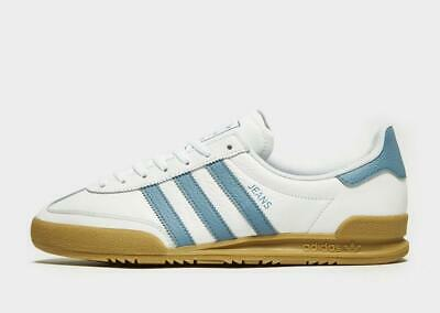 New adidas Originals Men's Jeans Leather Sneakers White