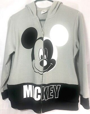d9fe3758359f0 WOMEN S MICKEY MOUSE Hoodie Sweatshirt - Charcoal Gray Size Small ...