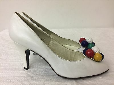 e368326867e9 Stuart Weitzman for Mr. Seymour Vintage white leather Pumps Shoes Size 8 B
