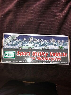 2004 Hess 40th Anniversary SUV and Motorcycles BRAND NEW