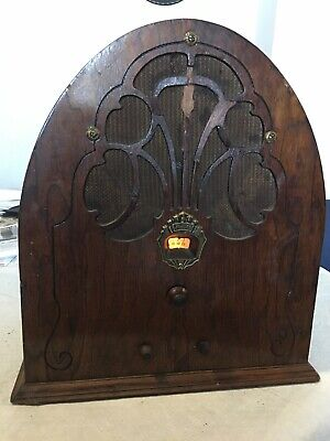 vintage PHILCO  MODEL 20 CATHEDRAL TUBE RADIO Working restored  Art deco 1931